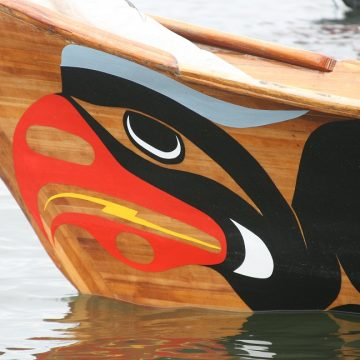 Canoe Prow at the 2012 Canoe Journey hosted by the South Sound's Squaxin Tribe