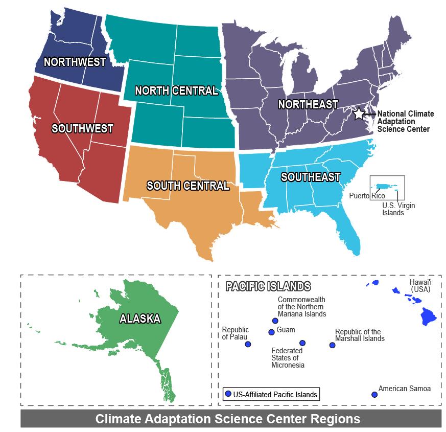 CASC Regions Map